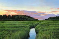"Andrew Houle, Alumni, ""Ipswich Marsh 6"", 2021, Paintings, 12x12, $1200,50%"