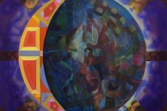 "Brett Mason, Alumni, ""Moon Phrase 1"", 2017, Paintings, 36x36, $900, 50%"