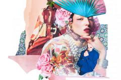 Bob Packert, Friend, ''Blue Crown-Paper Make up'', 2021, Collages, 18x12, $350, 100%