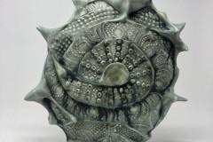"""Anne Thiam, Friend, """"Mudita Solace"""", 2020, Ceramic, 13x11, $595, 50%"""