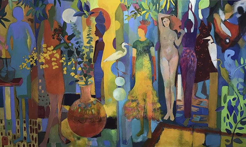 Loren Doucette - Joyful Reality - 2018 - Acrylic - 35x60 - $5500