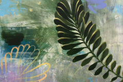 Barbara Moody - Frond - 2018 - acrylic on panel - 15x12 - $350