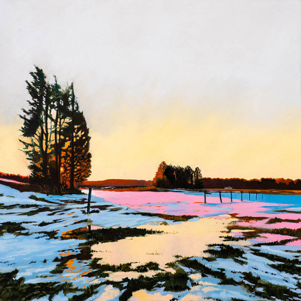 Daniel Fionte - Frozen Flood - 2018 - oil on linen - 26x26 - $1400