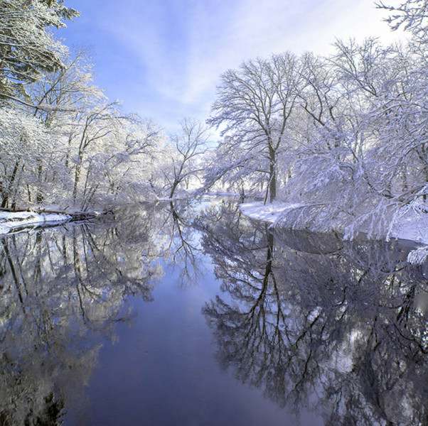 Edward Monnelly - Winter Ipswich River - 2016 - Archival Digital Print - 24x30 - $375 - Courtesy of Post Road Framers