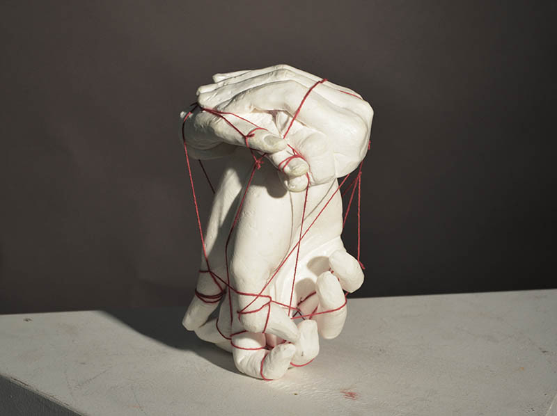 Gretchen Darche - Memory - 2018 - Plaster and string - 7x4x4 - $200