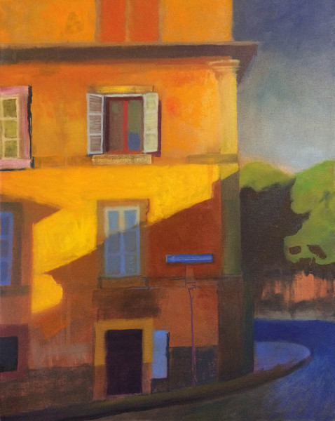 Jon Bolles - Via Cairoli, Viterbo, Italy - 2018 - Oil on canvas - 20x16 - $1250