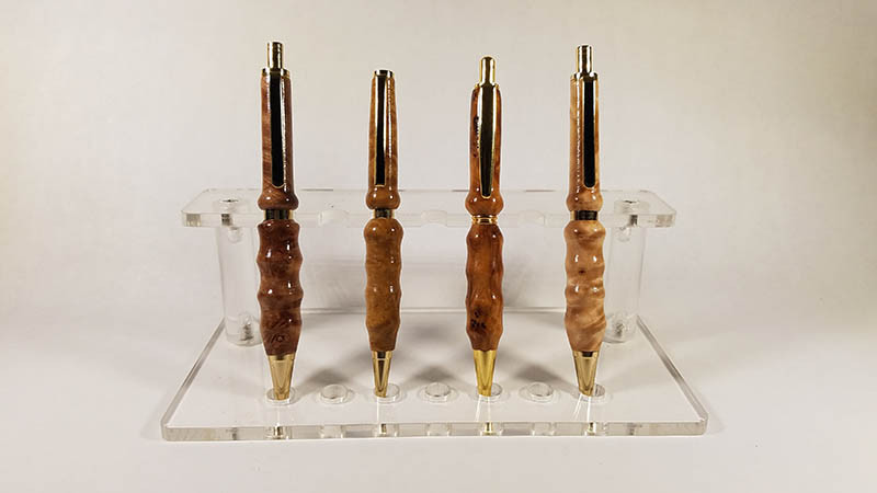 Robert Donlan - 4 handmade pens - 2019  - 6x.5x.5 - $400