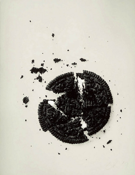 Soojin Kim - Cracked Oreo No.92 - 2019 - Conte Crayon on Paper - 26x20 - $2000 - Courtesy of Gallery BOM