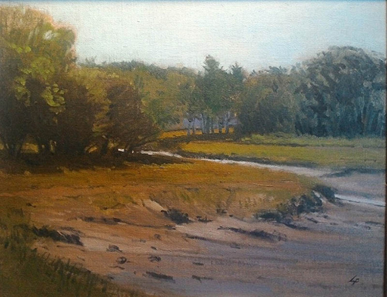 Stephen LaPierre - Masconomo Marsh - 2016 - oil on linen - 11x14 - $1100 - Courtesy of Stephen LaPierre Gallery