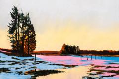 Daniel Fionte - Frozen Flood - 2018 - oil on linen - 26x26 - $1400