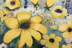 Jan Colby - Black Eyed Susans 2018 -Acrylic on Canvas- 20x24 - $500 - Courtesy of Zenobia