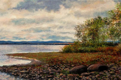 Lori MacDonald - Before the Light Turns Golden - 2013 - Acrylic - 10x30 - $500