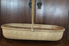 Patti Baker - Nantucket French read Basket - 2018 - Weaving cherry cane and reed - 12x6.5 - $300 - Courtesy of Marblehead Arts Association