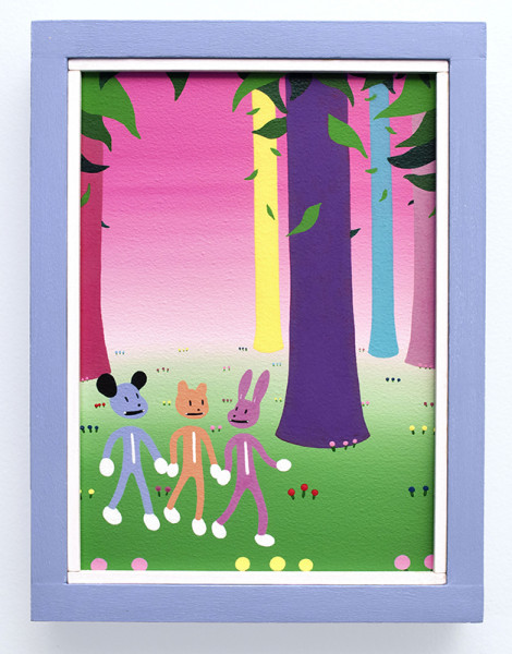 Stephen Decky (Friend)- Three Friends Meeting for a Walk in the Woods $400