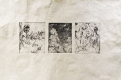 Jacob Spease - Expulsion from Eden -Etching - Senior