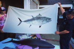 Jake Ursino, Printmaking Intern at Joe's Fresh Fish Prints