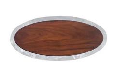 Shimmer Oval Cheese Board Dark Wood, $198