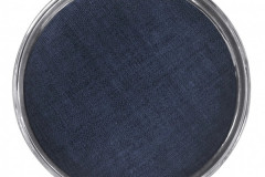 Signature Round Metal Tray with Indigo Blue Faux Grasscloth Insert, $265