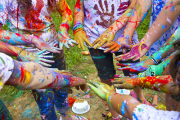 Students Covered in Paint