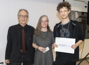 Ethan Berry and Stacy Thomas-Vickory with Gregory Allen - Interdisciplinary Merit Award