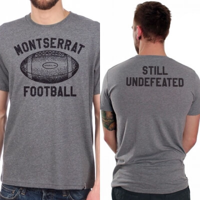 "Montserrat Football T-Shirt ""Still Undefeated"""