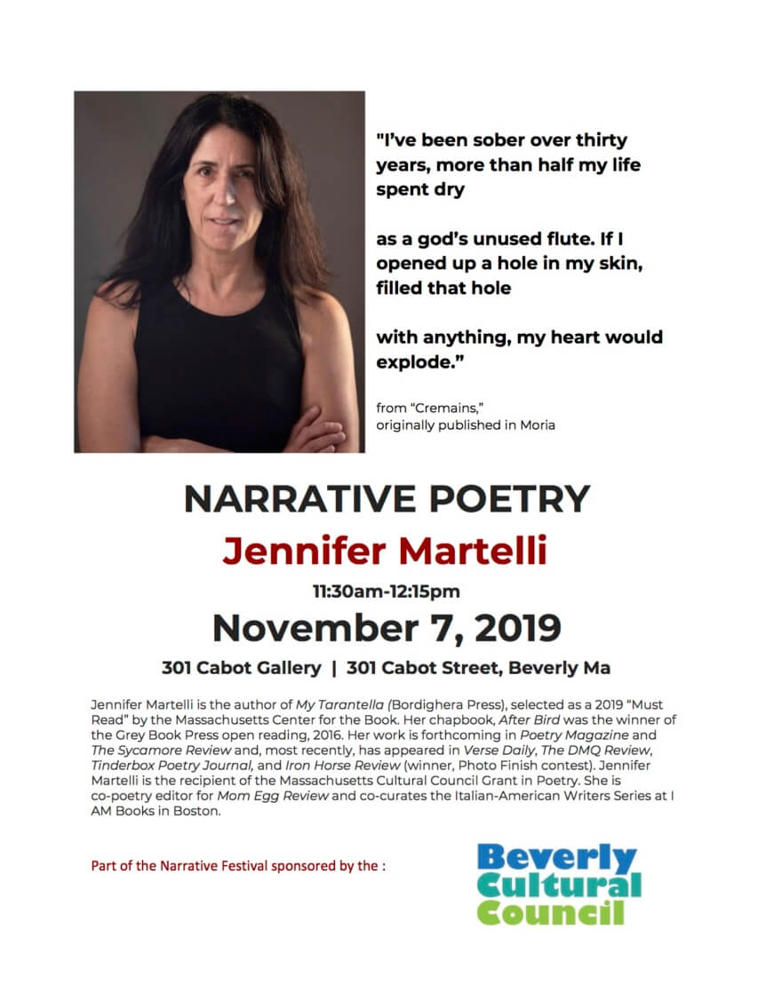 Narrative Poetry- Jennifer Martelli