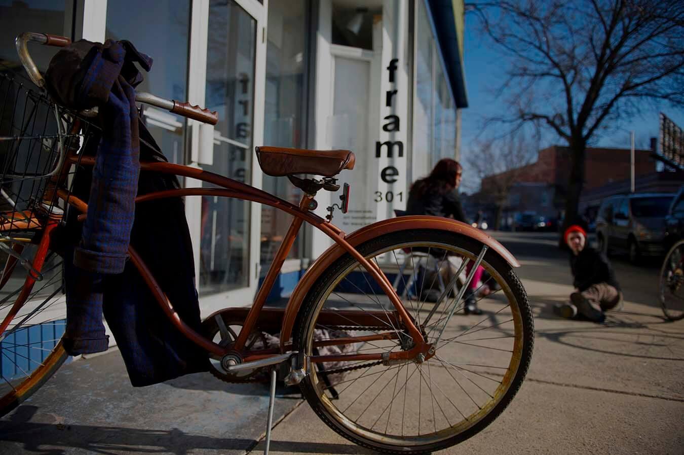 Bike Outside of 301 Gallery