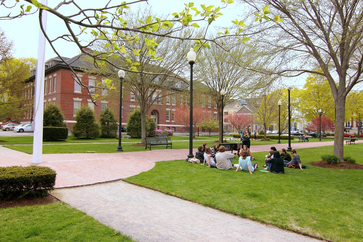 Students on the Beverly Commons