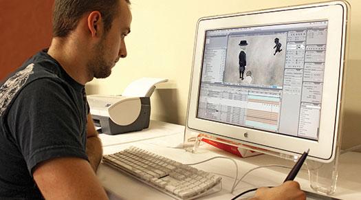 Chris Pianka, Animation Student