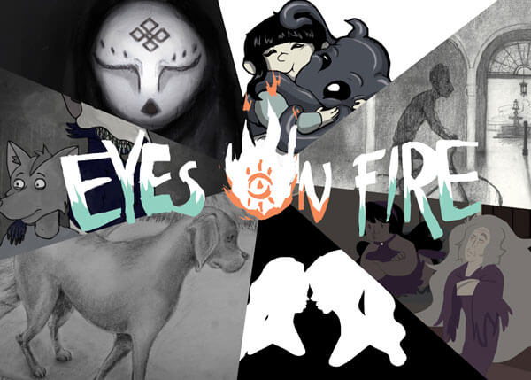 Eyes on Fire Showcard