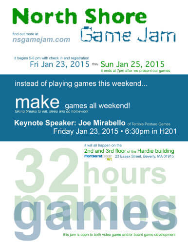 North Shore Game Jam Poster