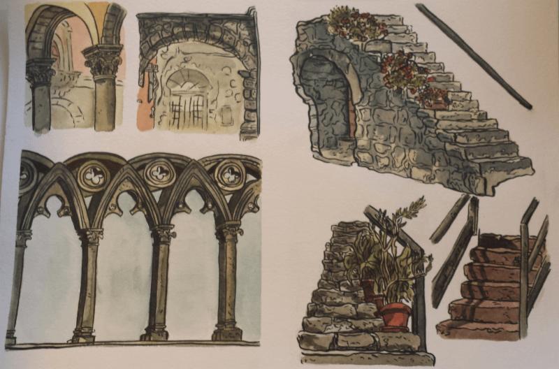 Viterbo Italy Sketches